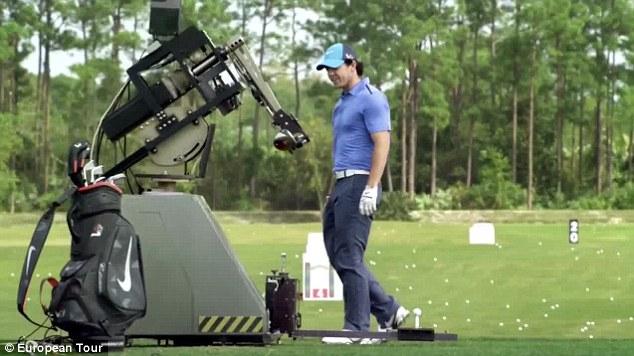 golf hitting machine