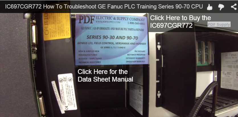 Easy Troubleshooting Guide for GE Fanuc IC697CGR772