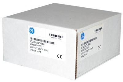 IC200MDD842 Mixed 24VDC POS LOG input group 16 point / output 24VDC 0.5 amp with ESCPoutput 16 point