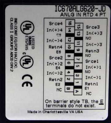 IC670ALG620 RTD, 4 Channel, Isolated 3 wire IC670A IC670AL IC670ALG PDFsupply also repairs GE IP FAN