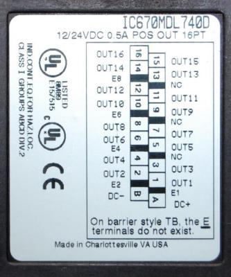 IC670MDL740 In Stock! 12/24VDC 0.5A Pos. Logic Output 16 Pt. Grouped IC670M IC670MD IC670MDL PDFsupp