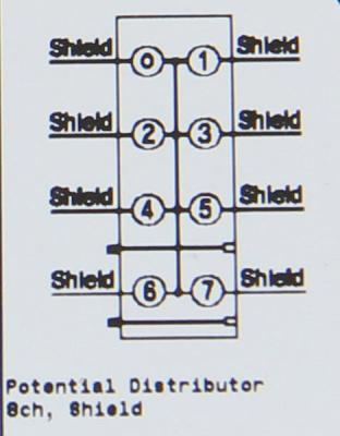 GE ST7008 RSTi Potential Distribution module module, Shield, 8 points, 10A No LED GE-IP | Image