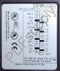 IC670ALG320 Analog Output, Current/Voltage, 4 Channel, Grouped IC670A IC670AL IC670ALG PDFsupply als