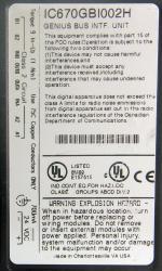IC670GBI002 Wiring