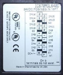 IC670MDL640 Wiring