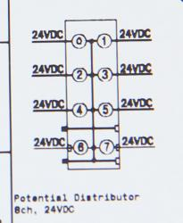 GE ST7118 RSTi Potential Distribution module module, 24VDC,  8 points, 10A GE-IP | Image