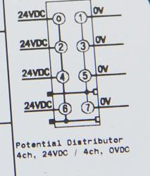 GE ST7588 RSTi Potential Distribution module module, 0VDC and 24VDC 4 points with module ID type wit