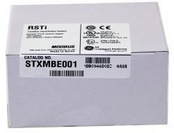 GE STXMBE001 RSTi Modbus TCP slave Network Adaper.  24VDC powered, expandable to 32 modules. GE-IP |